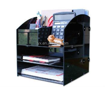 Ufficio acrilico accessori da scrivania organizzatore plexiglass