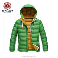 2016 Hot Fashion Style Foldable and Reversible Ultra Light Duck Down Jacket Men