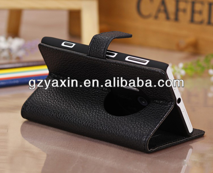 Leather case for Nokia Lumia 1020,Litchi wallet pu leather case for Nokia Lumia 1020 stand flip cover with card slot