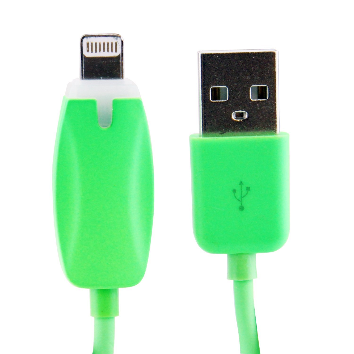 LB1 High Performance New Lightning Cable for iPhone 5S 5C 5 LED Light Charging and Data Sync 8-PIN Lightning Cable (Green)