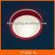 Color round plastic ceiling light plastic base and glass covers FT-003 PL