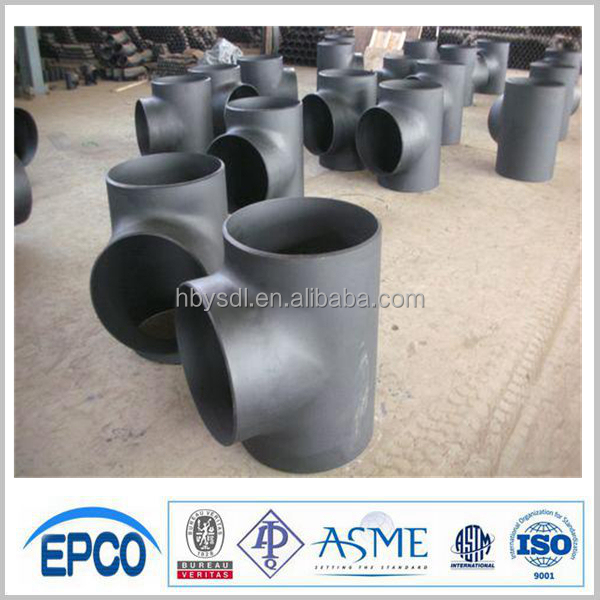 high pressure pipe fitting tee carbon steel equal tee sch40