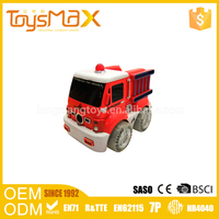 Popoular plastic funny toy car kids electric fire truck with light and music