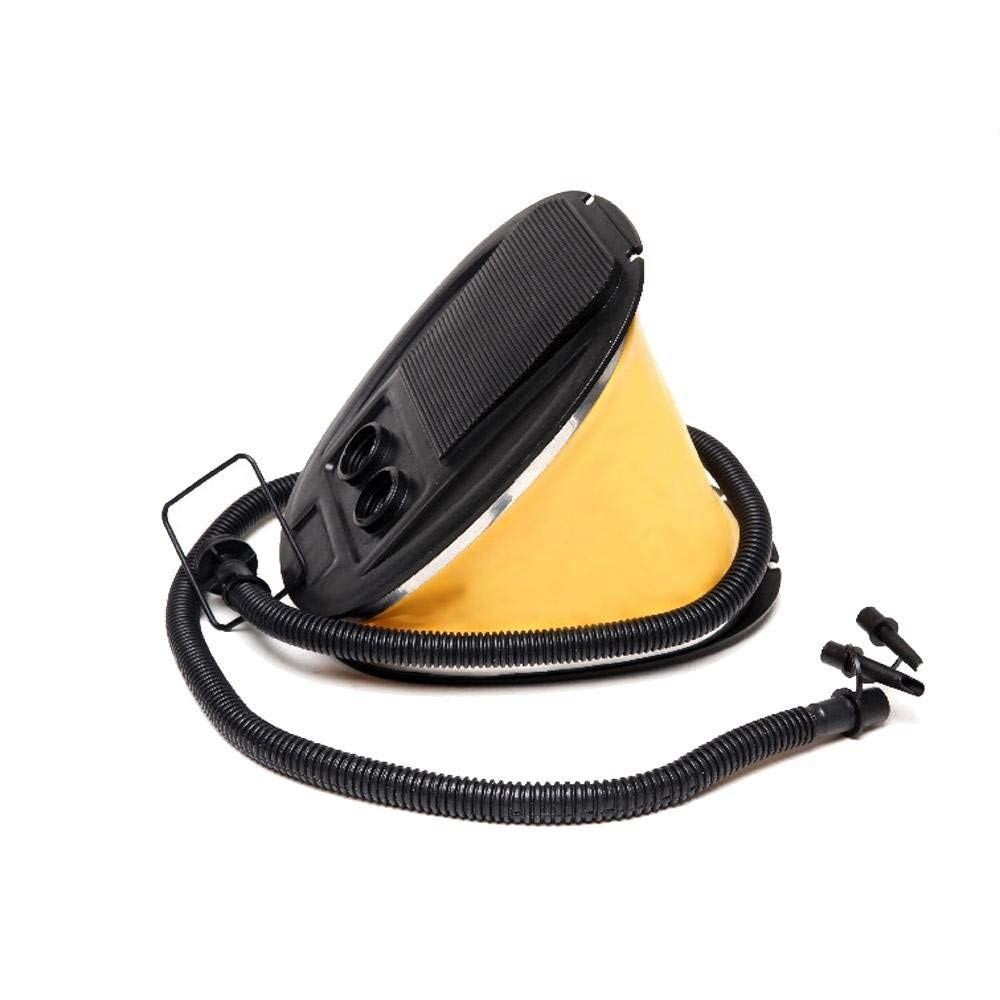 Pawaca 3L High Capacity Bellows Yellow Foot Pump Air Pump for Inflatables 3 Different Size Nozzles for Inflatable Tents, Inflatable Cushions, Inflatable Beds and Other Inflatable Equipment