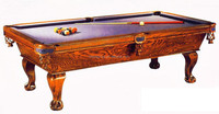 8 Feet Antique Professional Pool Table Oak Carved State Pool Table