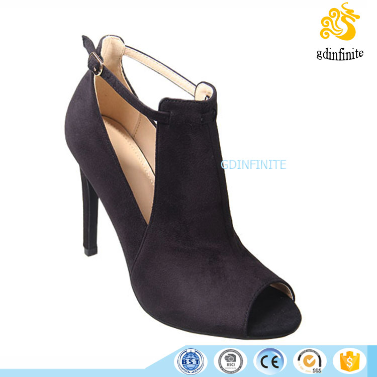 Order free sample Fashion peep toe lady ankle strap sandals casual shoes high heels