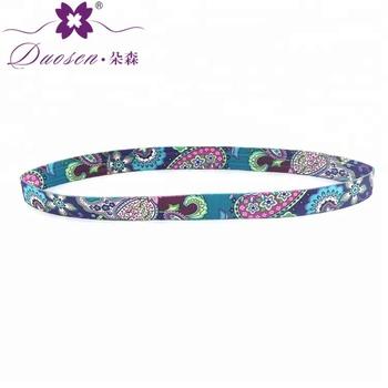 Fashion Retro Hair Accessories Women Elastic Turban Thin Ethnic Headband 02953c9a671