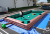 inflatable human billiards, football billiards, inflatable table snooker for sale