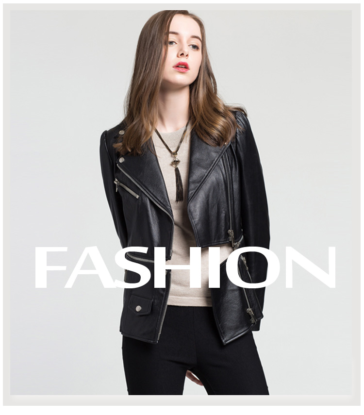 fashion Lower Edge Detachable sheepskin leather coat genuine leather jacket women