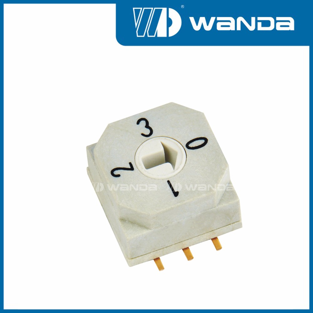DIP rotary switch,SDR-04S,4 position DIP rotary switch