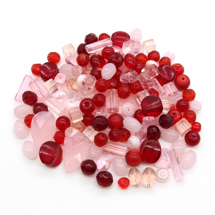Mixed murano pink and red glass beads wholesale for jewelry making