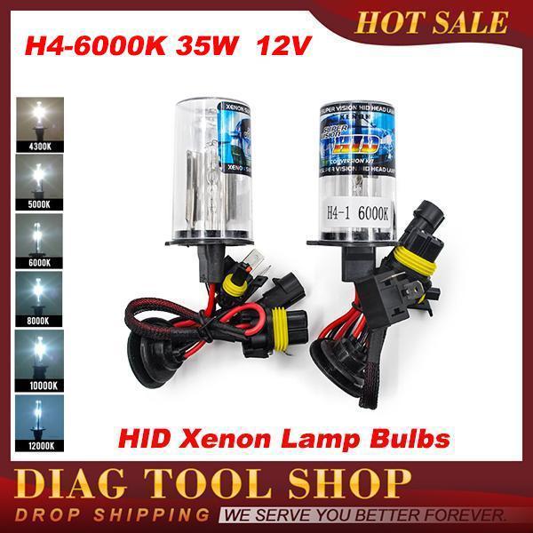 H4 HID биксеноновая ксенон H4 биксенон HID комплект H4 привет-ло фары лампы лампа 4300 K 6000 K 5000 K 8000 K 10000 K 12000 K 35 Вт