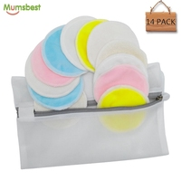Washable facial makeup remover pads with cotton wool material
