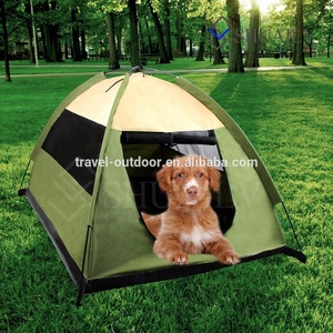 Portable Outdoor Dog Bed House Facet Tent Waterproof Camping Animal Pop Up Pet Tent