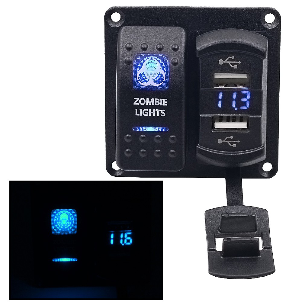 Weiken Mini 12 Volt Marine Boat Switch Panel With Usb Car