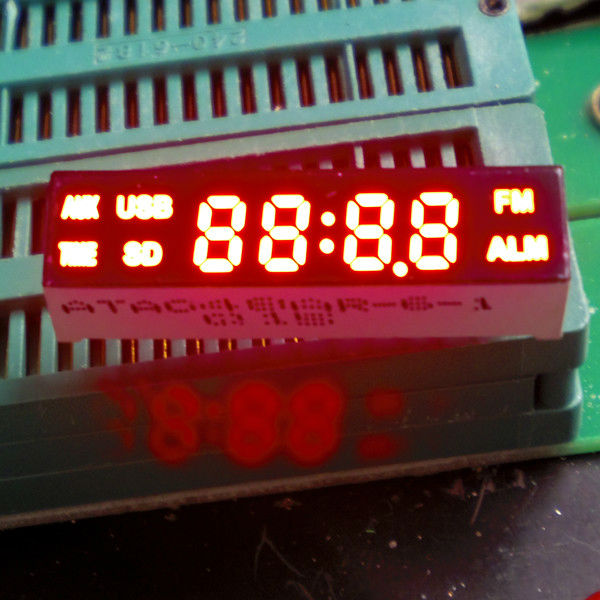 four digit led sign board tube for vido product (ATA048XR)