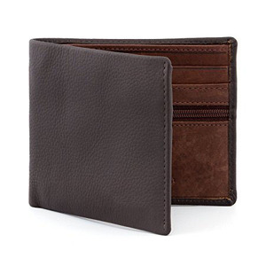 The Wilmore Two Fold fine gary Leather Wallet with Contrast Leather Inner