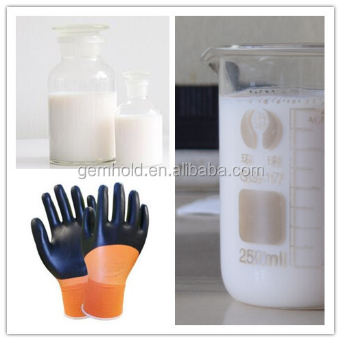 factory supplier emulsion Type carboxylated NBR latex for Working Gloves