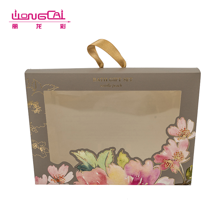 Luxury gold hot stamp printing paper cosmetic packing box