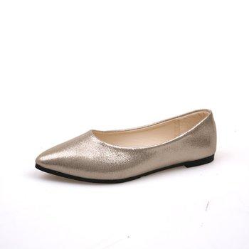 Zapato Cheelon 2018,Primavera,Liso,Todos Los Partidos,Punta Estrecha,Oro,Plata,Suave,Pu,Casual,Zapatos Planos De Oficina Para Mujer Buy Zapatos