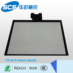 15 inch Screen Size Capacitive Type touchscreen for industrial equipment