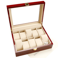 Zenper newest popular personalized high quality red luxury wooden watch box cases