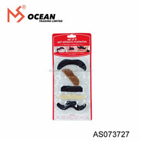 6PCS Hand Crafted Black cardstock mustaches party favors moustaches