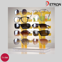 New Hot 2 Row 10 Pairs of Eyeglasses Sunglasses Glasses Display Stand Holder Rack