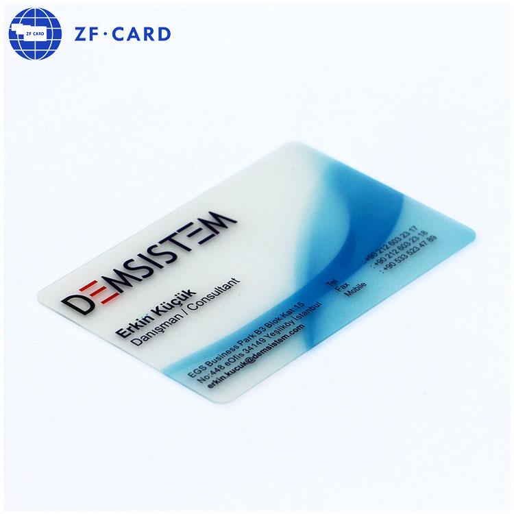 Chất Lượng cao PVC Chất Liệu Rõ Ràng Frosted Nhựa Kinh Doanh Thẻ