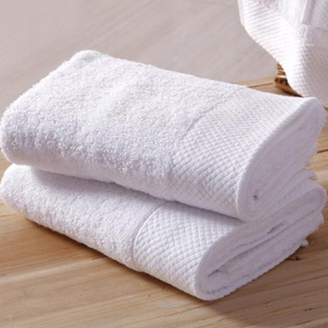 china factory supply 100% cotton terry white dobby border face towel