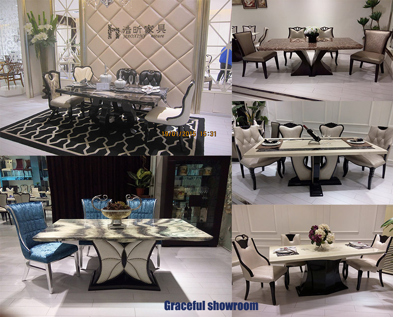 White Marble Dining Table Room Furniture For Sale