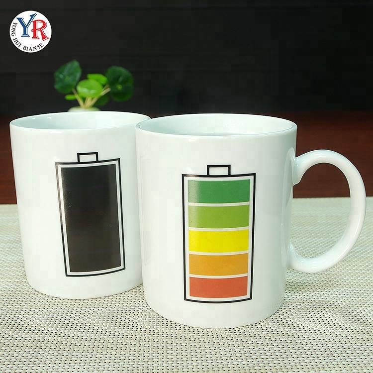 Wholesale Magic Handle Buy magic Battery Sublimation White Mug 11oz Mug Prices With Coffee Ceramics 8PO0NnwZkX