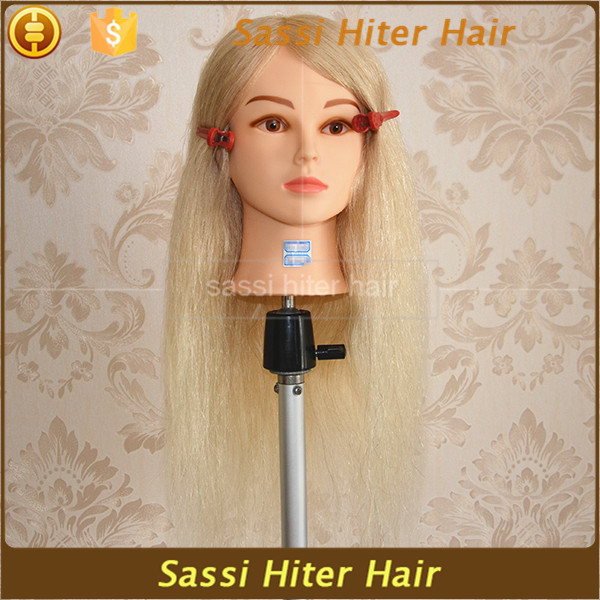 100% Natural Human Hair Training Doll Head/training Mannequin Head