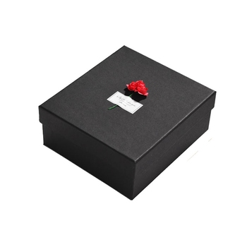 Free Sample Wholesale New Product Black Dried Flower Box Gift Packaging