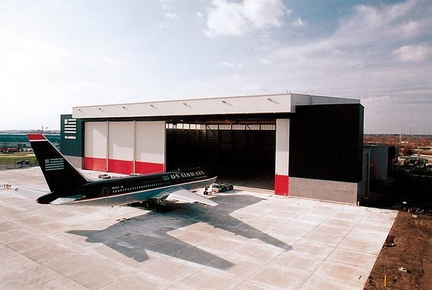 light prefabricated portable aircraft hangar with In Niger