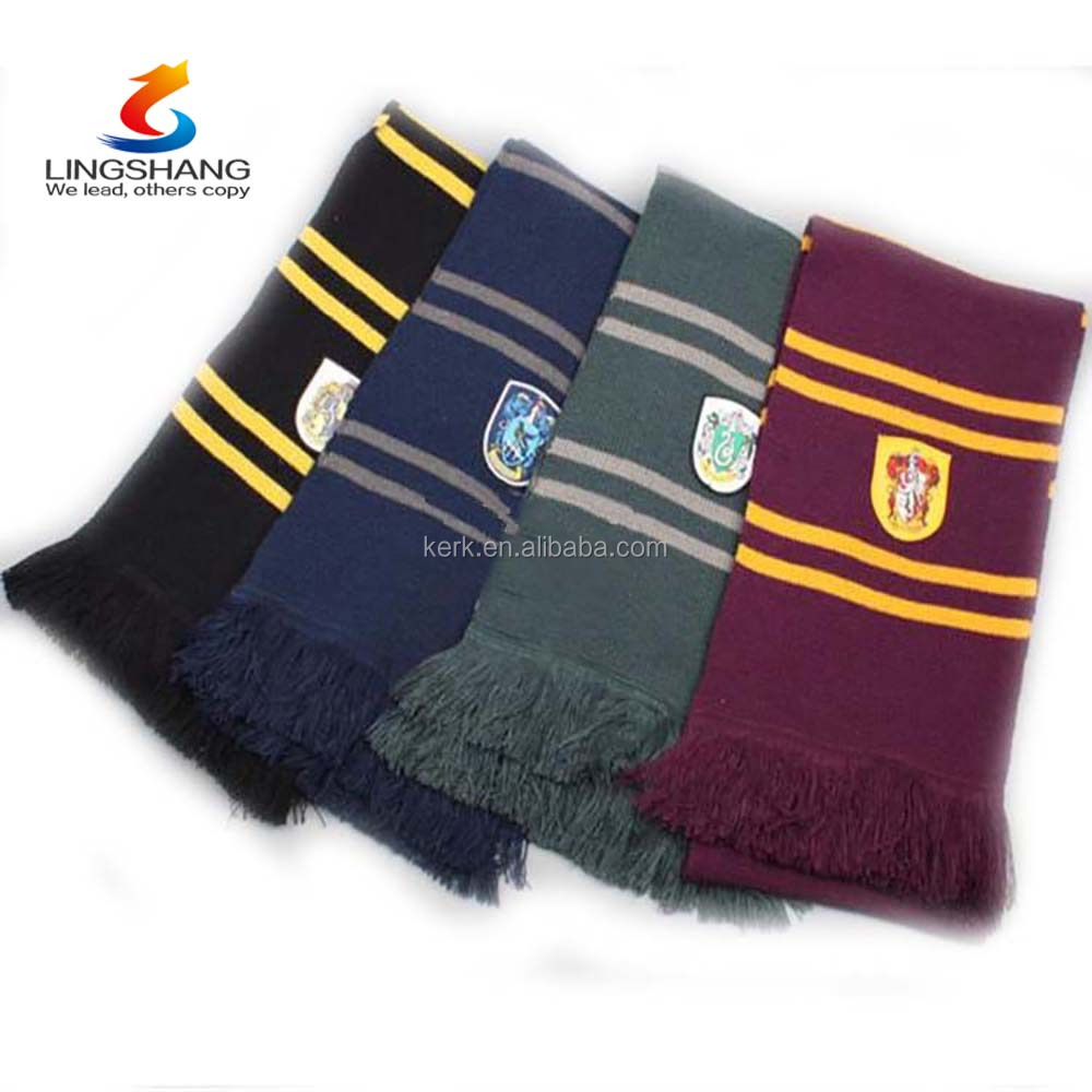 Fashion Unisex Scarf Gryffindor Scarves Ravenclaw Shawls Magic School Slytherin Pashmina Cosplay HLDWJ-1