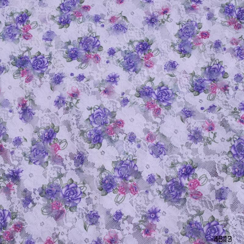 floral elastic lace printed fabric stretch fabric