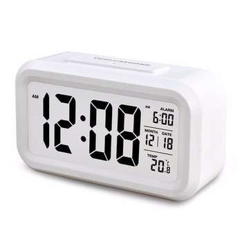 digital smart alarm wall clocks with nightlight function for promotional gifts