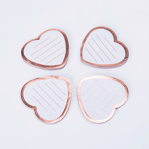 heart shaped foil sticky note/sticky note book