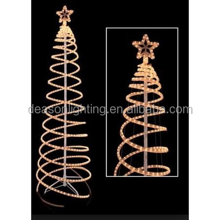 Rope Light Silhouettes - Led Christmas Tree With Decorations - 1.2 ...