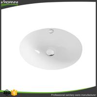 China manufacturer ceramic round undercounter hand wash basin undermount bathroom sink