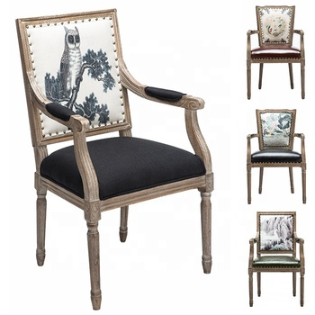 Used Dining Room Furniture Kitchen High Wooden Armrest Dining Chair For  Sale - Buy Wooden Armchair,Armrest Dining Chair,Kitchen High Chair Product  on ...
