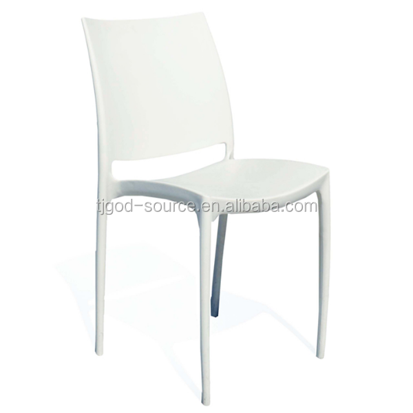 Modern White Plastic Stacking Chairs Cafe Chair Product On Alibaba