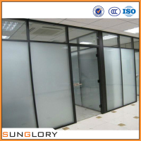 Tempered Glass Floor to Ceiling Office Partitions Wall