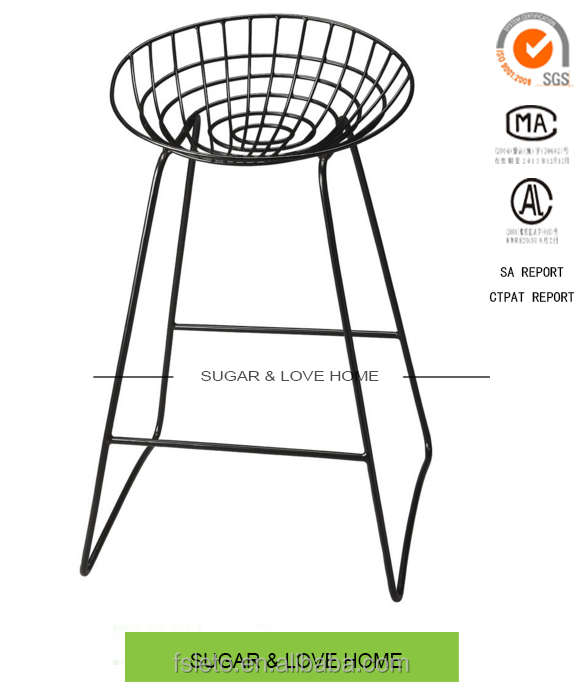 Industrial loft contemporary metal bar stool