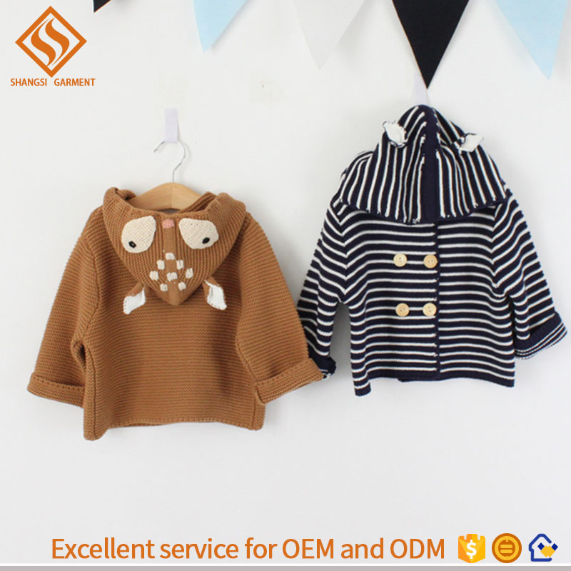 2017 Winter Pullover Designs für Kinder, Baby Strickjacke Hoody Pullover
