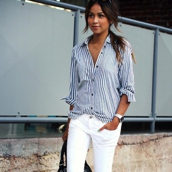 Camisa a rayas para mujer