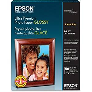 "Epson Ultra Premium Photo Paper . Letter . 8.50"" X 11"" . Glossy . Bright White ""Product Type: Supplies/Printing Media"""