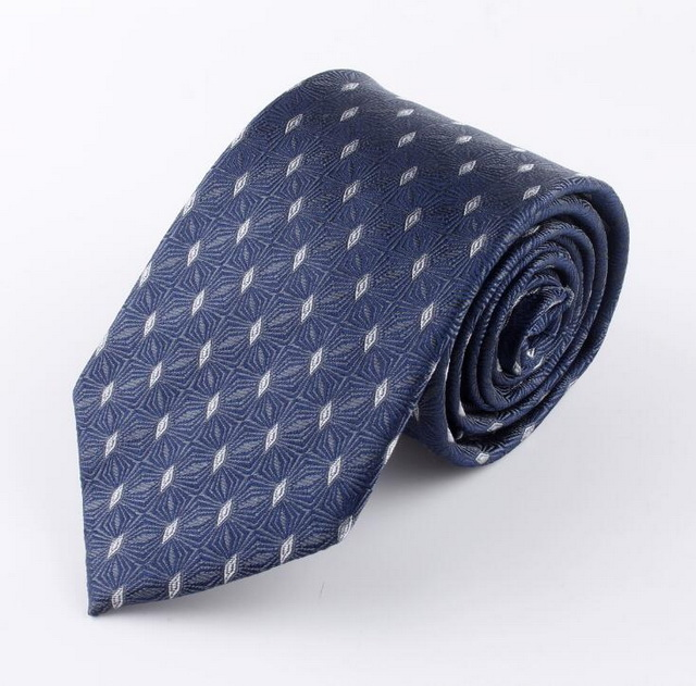 Dot 100% silk <strong>tie</strong> 8cm Jacquard arrow type geometry silk neck customized
