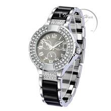 7b96bd69816b Ceramic Chain Bracelet Strap Luxury Brilliant Crystal Lady Wristwatch  Fashion Retro Womens Watch Montre Femme Reloj